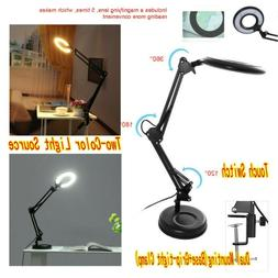 12W Task Lamp With Magnifier Craft Reading Magnifying Glass