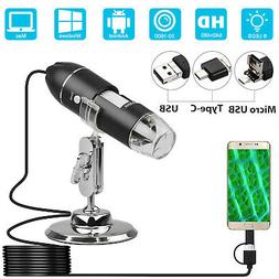 1600X 8 LED USB Zoom Digital Microscope Hand Held Magnifier