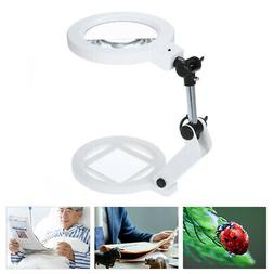 1PCS Folding 1.5X/5X Magnifying Glass Foldable with Light an