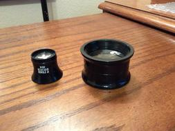 2 bausch and lomb magnifiers double lens