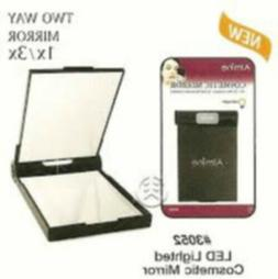 Led Lighted Cosmetic Mirror With Two Mirrors 1x and 3x