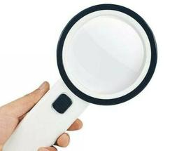 30 Times Handheld 12 LED Lighted Magnifier Magnifying Glass