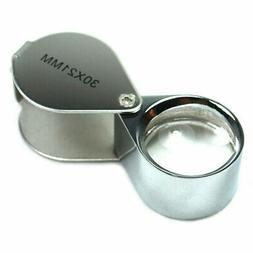 30X Jeweler  Loupe  Magnifier 30x21mm Magnifying Glass with