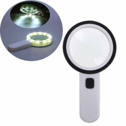 30X Magnifying Glass Double Glass Lens Led Light Magnifiers