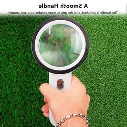 30X Table Magnifier Lamp Desk Magnifying Glass Loupe for Rea