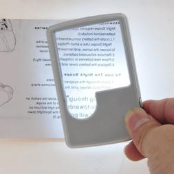Portable Pocket Credit Card Size 3x 6x Magnifier Magnifying