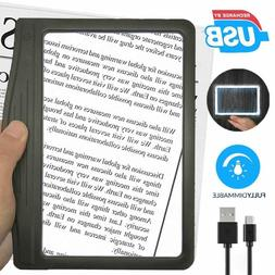 3X Large UltraBright Page Magnifier with 12 Anti-Glare Dimma