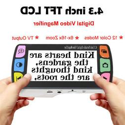 "4.3"" Video Digital Magnifier Electronic Reading Aid 12 Color"