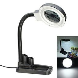 40 LED Flexible Magnifying Glass Desk Lamp With 5X 10X Magni
