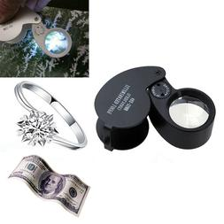 40x 25mm Glass LED Light Magnifying Magnifier Jeweler Eye Je