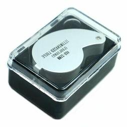 40X 25mm Illuminated Magnifier Jeweler LED Lighted Loupe Loo