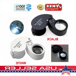 40x magnifying loupe jewelry eye glass magnifier