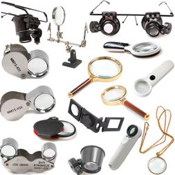 5/10/20/30X Magnifier Magnifying Eye Loupe Glasses Jewelry M