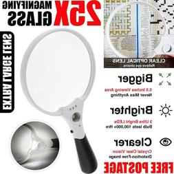 "5.5"" LED Hand Held Magnifiers Seniors Reading  Inspection El"