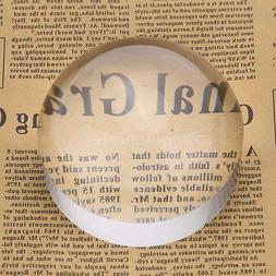 50mm 5X Crystal Acrylic Magnifying Glass Paperweight Dome Ma
