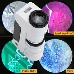 50x zoom mini pocket microscope magnifying loupe