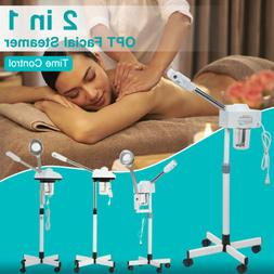 Facial Steamer Skin Care Ozone with Rolling Wheel Stand 2 in