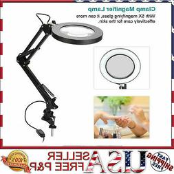 5x Magnifier Lamp Light Desk Clamp Mount Magnifying Diopter