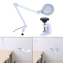 5X Swing Arm Mounted Magnifier Desk Table Clamp Lamp Light M