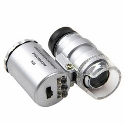 60x magnifying loupe jewelry jewelers pocket magnifier