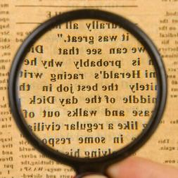 6X Magnification Pocket Magnifier Optical Glass Lens Folding