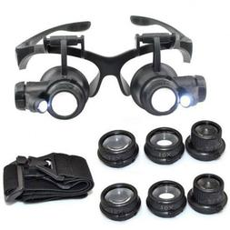 8 Lens Magnifier Magnifying Eye Glass Loupe Jeweler Watch Re