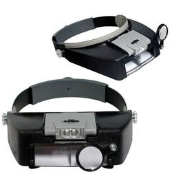 Headband Headset LED Head Lamp Light Jeweler Magnifier Magni