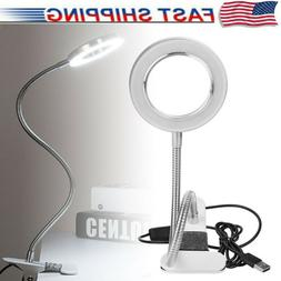 8X Large Lens Lighted Lamp Top Desk Magnifier Magnifying Gla