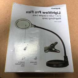 Brightech LightView Pro Flex 2 in 1: 5 Diopter Magnifying Gl