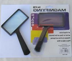 Harbor Freight Rectangle Magnifying Glass, Black