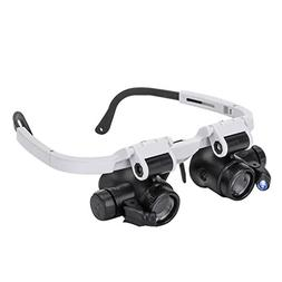 Magnifying Glasses 8X 15X 23X Magnifier LED Headband Glass E
