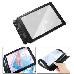 USA A4 Full Page 3x Magnifier Sheet Large Magnifying Glass B