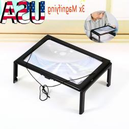 A4 Full Page Hands Free Magnifying Glass Sheet 4LED Magnifie