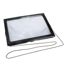 A4 Full Page Large Hands Free Magnifier Magnifying Glass Len