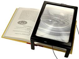 A4 Full Page Magnifier Hands-free 3X Magnification For Readi