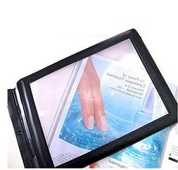 Enshey A4 Full Page Magnifier Hands-free 3X Magnifier Handhe