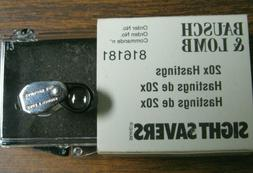 BAUSCH & LOMB HASTINGS MODEL 816181 20X MAGNIFIER LOUPE NEW