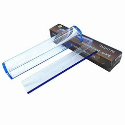 8 Inch 5X Blue Raised Domed Bar Magnifier 7513B with Reading