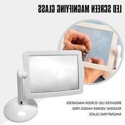 Brighter LED Screen Magnifier Reading Viewer Hands-Free Magn