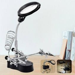 Desk Magnifying Lamp With Clamp Craft Glass Loupe Lab Work L
