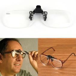 Clip On Flip Up Magnifying Reading Glasses Magnifiers Lenses