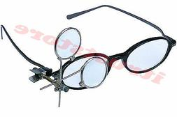 CLIP ON MAGNIFYING LOUPE FOR GLASSES EYE GLASS EYELOUPE JEWE