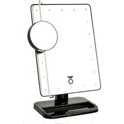 Sharper Image - Cordless LED Tri-View Mirror Beauty Station