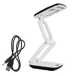 Desk Magnifying Lamp Magnifier Glass with Led Light and Stan
