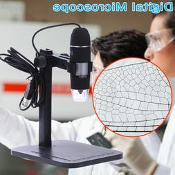 Digital USB Microscope Endoscope 1000X 2MP 8LED Magnifier Ca
