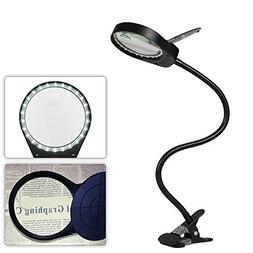 Tomshine Dimmable Lighted Magnifying Glass 3X/10X Magnifying