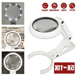 dimmable magnifying crafts glass lens desk lamp