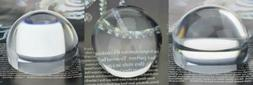 YOCTOSUN 2.5 Inch Dome Magnifier 5X Acrylic Paperweight Read
