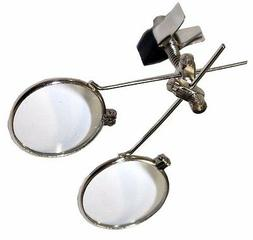 Double Clip-On Eye Loupe Magnifying Glass 10x & 10x = 20x Ma