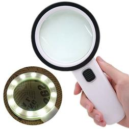 Extra Large Handheld Reading Magnifier 30X Magnifying Glass